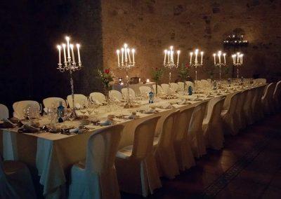 Mesa cena privada en Convento de la Luz