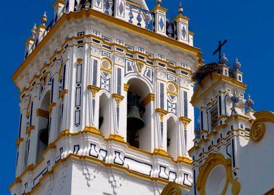 Campanario de la Iglesia de San Juan Bautista. Plaza de España